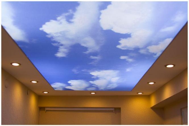 дизайн натяжных потолков, фото