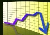 график спада