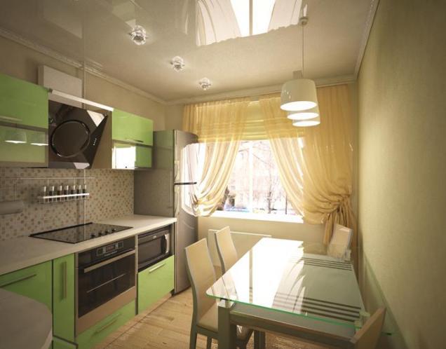 проект Дизайн кухни 8 м.кв. ул. Калинина.
