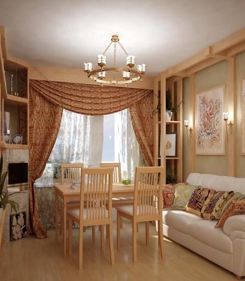 Интерьер маленького зала