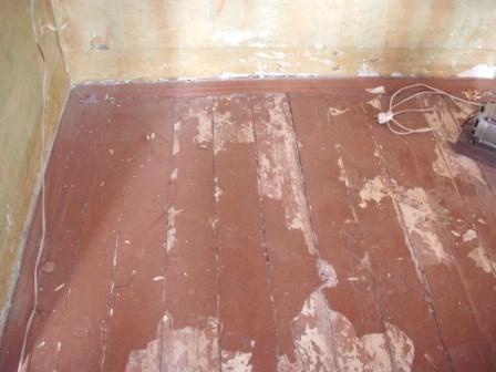 Укладка линолеума на старый деревянный пол
