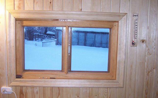 Окна в бане дизайн