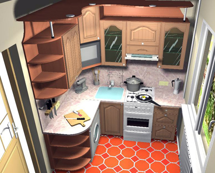 Разнообразные варианты кухонь 6 кв м