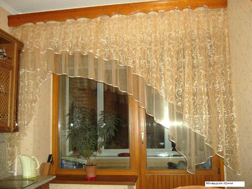Дизайн штор на кухни фото
