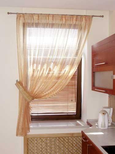 Дизайн штор на кухне своими руками